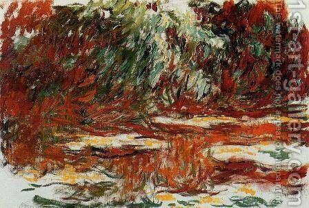 The Water-Lily Pond2 1918-1919 by Claude Oscar Monet - Reproduction Oil Painting