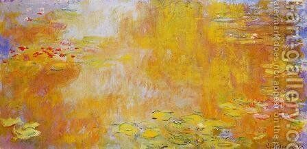The Water-Lily Pond3 1917-1919 by Claude Oscar Monet - Reproduction Oil Painting
