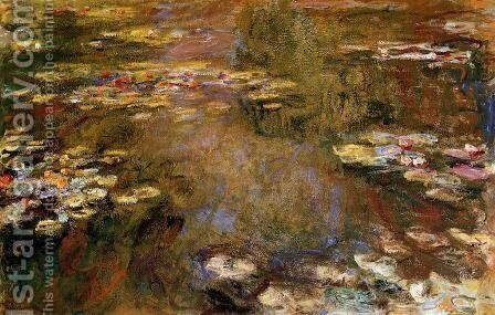 The Water-Lily Pond4 1917-1919 by Claude Oscar Monet - Reproduction Oil Painting