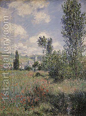 View of Veheuil 1880 by Claude Oscar Monet - Reproduction Oil Painting
