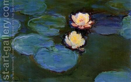 Water-Lilies1 1897-1899 by Claude Oscar Monet - Reproduction Oil Painting