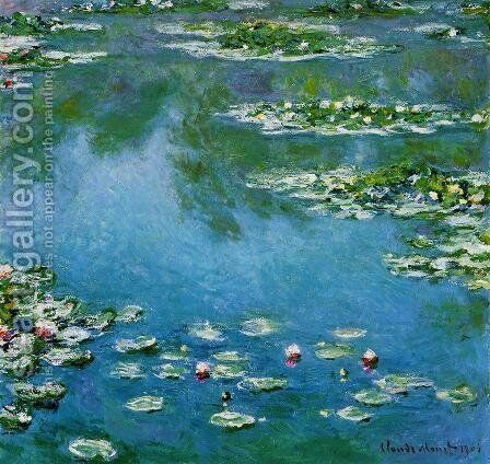 Water-Lilies1 1906 by Claude Oscar Monet - Reproduction Oil Painting
