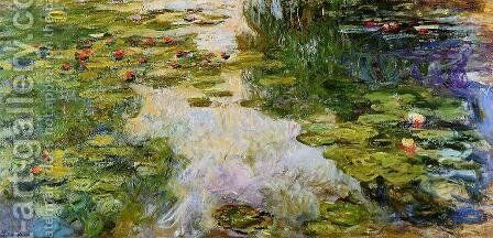 Water-Lilies1 1917-1919 by Claude Oscar Monet - Reproduction Oil Painting