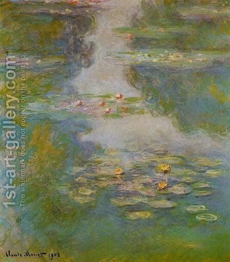 Water-Lilies10 1908 by Claude Oscar Monet - Reproduction Oil Painting