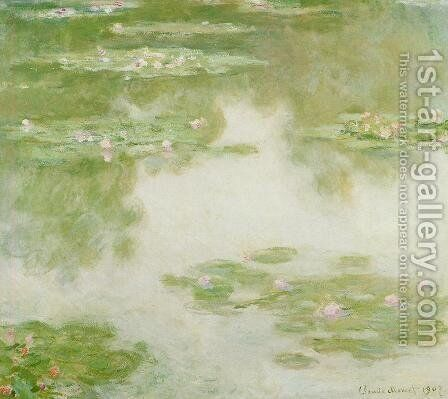Water-Lilies11 1907 by Claude Oscar Monet - Reproduction Oil Painting