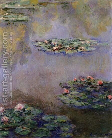 Water-Lilies11 1908 by Claude Oscar Monet - Reproduction Oil Painting