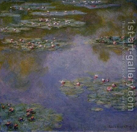 Water-Lilies12 1907 by Claude Oscar Monet - Reproduction Oil Painting