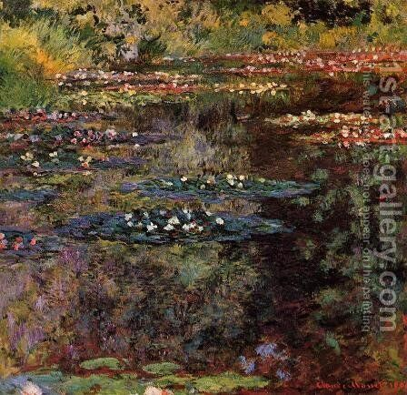 Water-Lilies2 1904 by Claude Oscar Monet - Reproduction Oil Painting