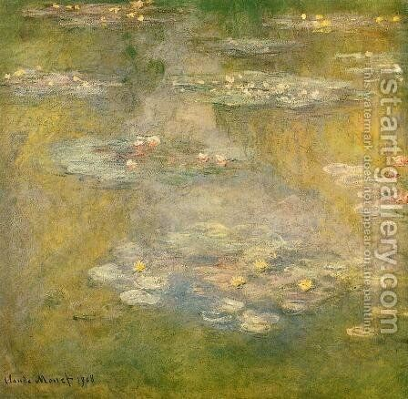 Water-Lilies3 1908 by Claude Oscar Monet - Reproduction Oil Painting