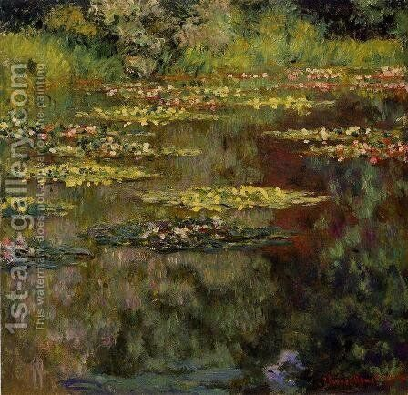 Water-Lilies4 1904 by Claude Oscar Monet - Reproduction Oil Painting