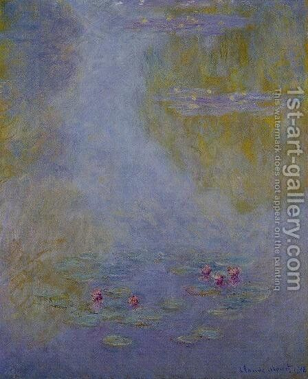 Water-Lilies4 1908 by Claude Oscar Monet - Reproduction Oil Painting