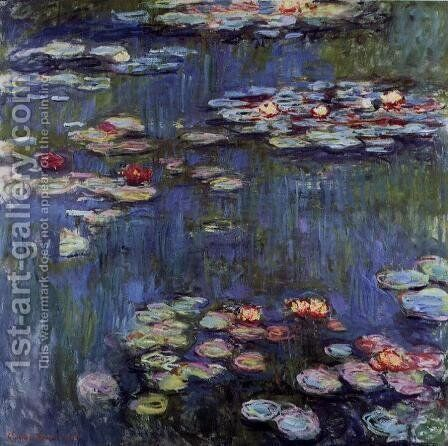 Water-Lilies4 1914-1917 by Claude Oscar Monet - Reproduction Oil Painting