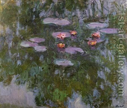 Water-Lilies4 1916-1919 by Claude Oscar Monet - Reproduction Oil Painting