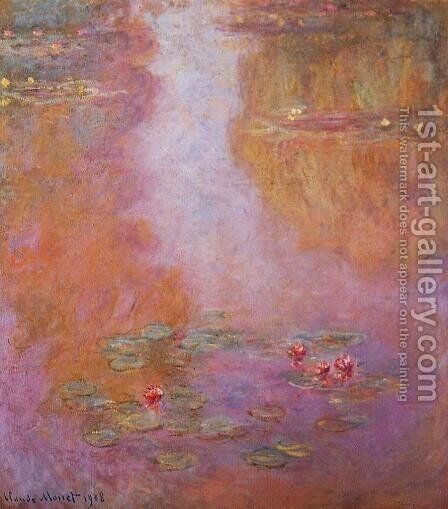 Water-Lilies5 1908 by Claude Oscar Monet - Reproduction Oil Painting