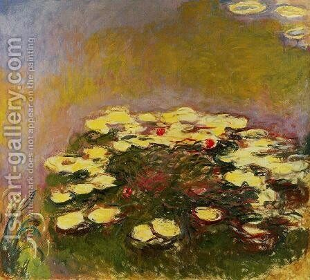 Water-Lilies5 1914-1917 by Claude Oscar Monet - Reproduction Oil Painting