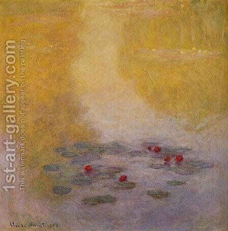 Water-Lilies6 1908 by Claude Oscar Monet - Reproduction Oil Painting