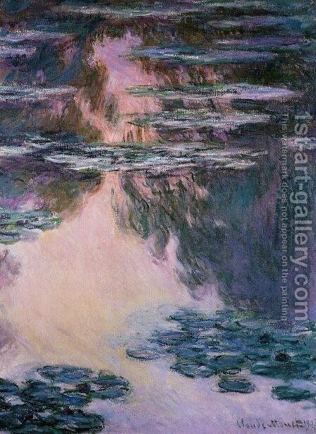 Water-Lilies7 1907 by Claude Oscar Monet - Reproduction Oil Painting