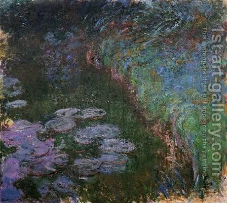 Water-Lilies7 1914-1917 by Claude Oscar Monet - Reproduction Oil Painting