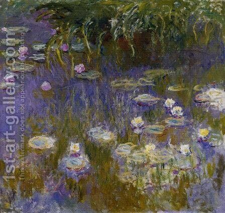 Yellow and Lilac Water-Lilies 1914-1917 by Claude Oscar Monet - Reproduction Oil Painting