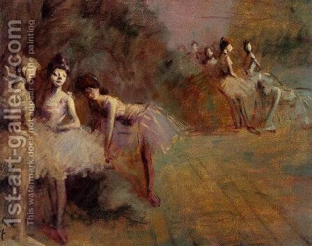 Dancers Resting  1905 by Jean-Louis Forain - Reproduction Oil Painting
