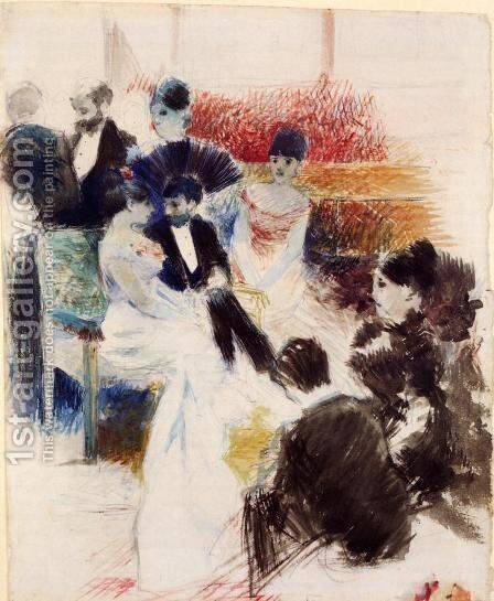 Parisian Salon 1878 by Jean-Louis Forain - Reproduction Oil Painting