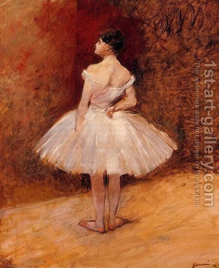 Standing Dancer  1890 by Jean-Louis Forain - Reproduction Oil Painting
