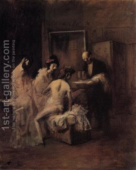 The Box 2 by Jean-Louis Forain - Reproduction Oil Painting