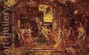 The Court of the Princess by Adolphe Joseph Thomas Monticelli - Reproduction Oil Painting
