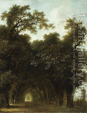 A Shaded Avenue probably 1773 by Jean-Honore Fragonard - Reproduction Oil Painting