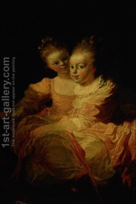 The Two Sisters by Jean-Honore Fragonard - Reproduction Oil Painting