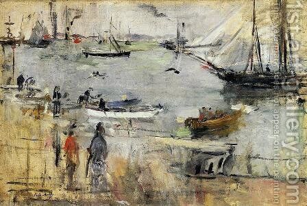 English Seascape2 1875 by Berthe Morisot - Reproduction Oil Painting