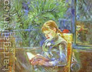 La Lecture (Reading) 1888 by Berthe Morisot - Reproduction Oil Painting