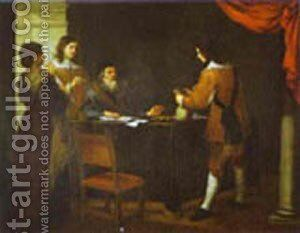 The Prodigal Son Receiving His Portion Of Inheritance 1660s by Bartolome Esteban Murillo - Reproduction Oil Painting