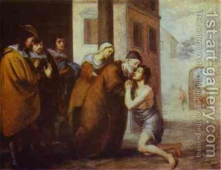 The Return Of The Prodigal Son 1660s by Bartolome Esteban Murillo - Reproduction Oil Painting