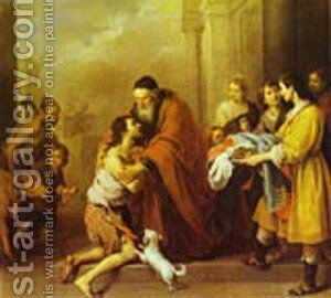 The Return Of The Prodigal Son 1670-74 by Bartolome Esteban Murillo - Reproduction Oil Painting