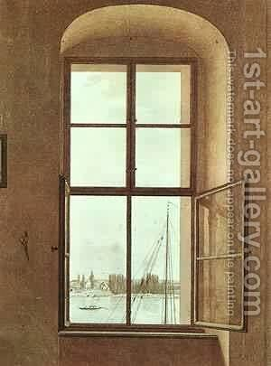 The Lake The Sleeping Water 1897-98 by Caspar David Friedrich - Reproduction Oil Painting