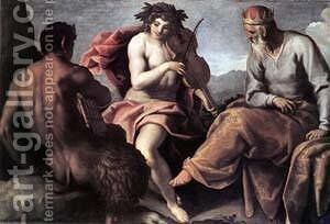 Apollo and Marsyas I by Jacopo d'Antonio Negretti (see Palma Giovane) - Reproduction Oil Painting