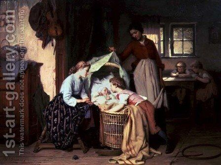 The Newborn Child by Theodore Gerard - Reproduction Oil Painting