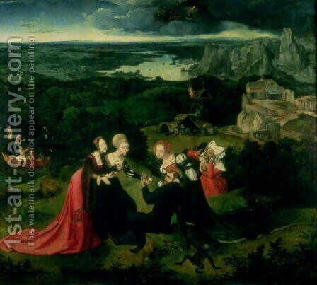 The Temptation of St Anthony by Joachim Patenier (Patinir) - Reproduction Oil Painting