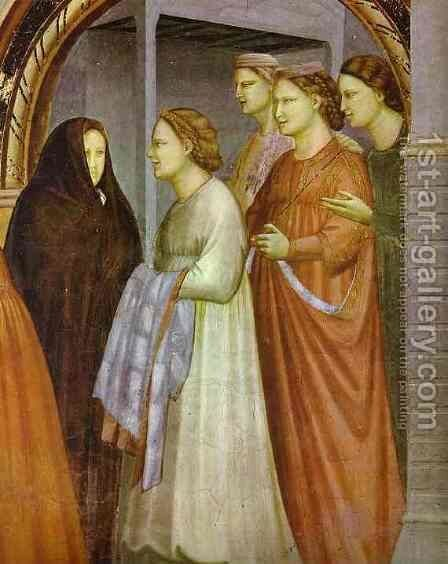The Meeting At The Golden Gate Detail 1304-1306 by Giotto Di Bondone - Reproduction Oil Painting