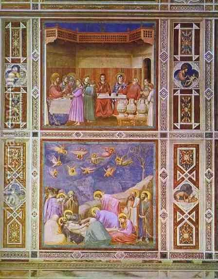 Wedding Feast At Cana.The Wedding Feast At Cana And The Deposition Of Christ 1304 1306