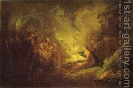 Birth Of Christ 1745 by Antoine Pesne - Reproduction Oil Painting