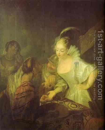 Fortune Teller 1710 by Antoine Pesne - Reproduction Oil Painting