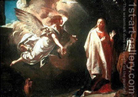 The Annunciation by Giovanni Battista Piazzetta - Reproduction Oil Painting