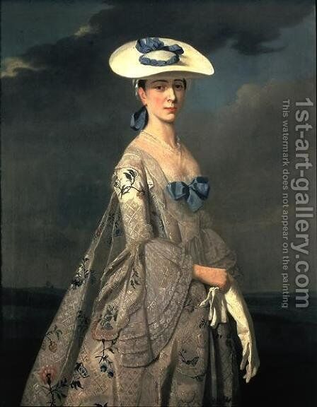 Portrait of Eleanor Frances Dixie 1753 by Henry Pickering - Reproduction Oil Painting
