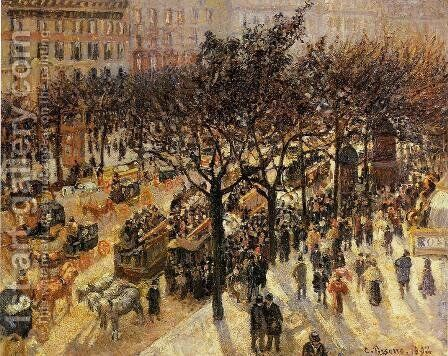 Boulevard des Italien Afternoon  1897 by Camille Pissarro - Reproduction Oil Painting