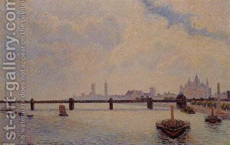 Charing Cross Bridge London  1890 by Camille Pissarro - Reproduction Oil Painting