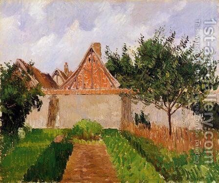 Garden at Eragny  1899 by Camille Pissarro - Reproduction Oil Painting