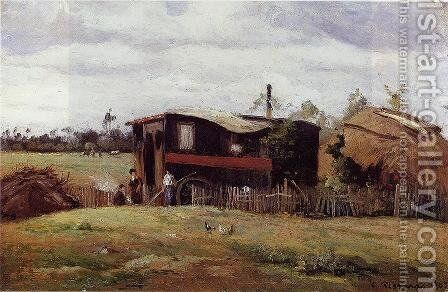 La Route 1870 by Camille Pissarro - Reproduction Oil Painting