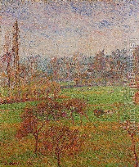 Morning Autumn Efagny  1892 by Camille Pissarro - Reproduction Oil Painting